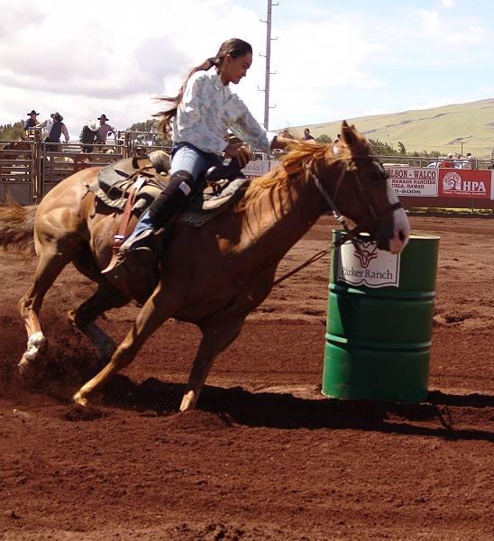 Ku'uipo running barrels
